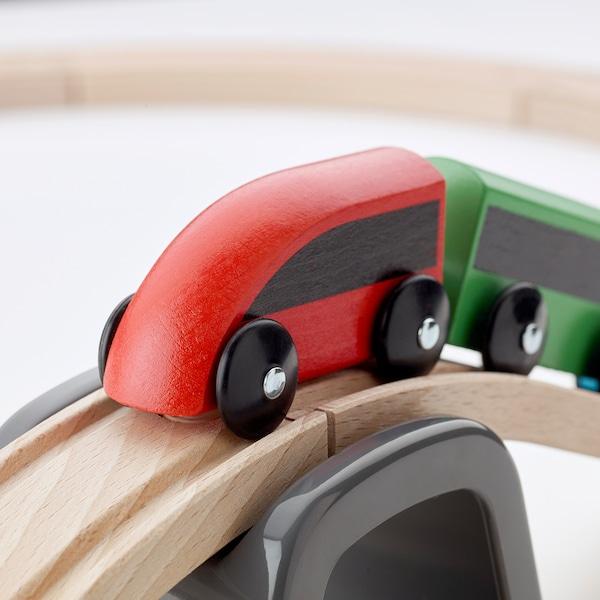 利乐宝 基础型玩具火车20件套 多色