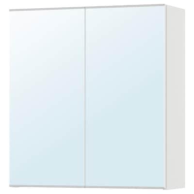 LILLÅNGEN 利兰根 双门镜柜, 白色, 60x21x64 厘米