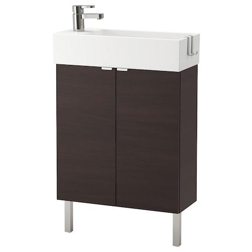 利兰根 双门洗脸池柜 黑褐色/ENSEN 安森 水龙头 62 厘米 60 厘米 27 厘米 93 厘米