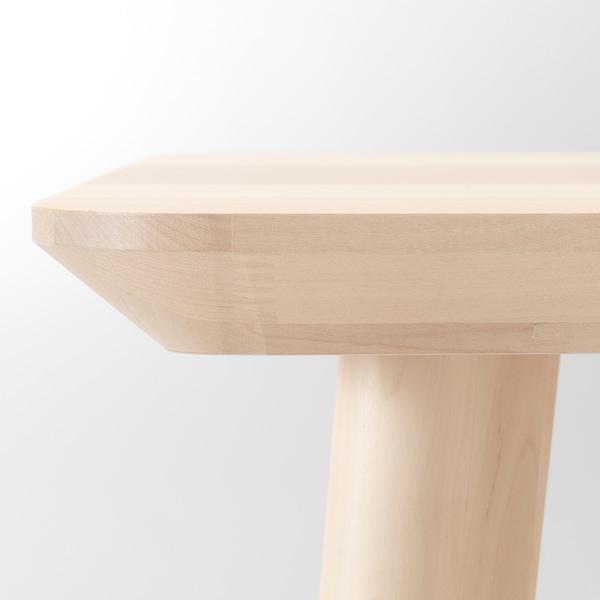 LISABO 利萨伯 / JANINGE 延宁 一桌四椅, 白蜡木贴面/白色, 140x78 厘米
