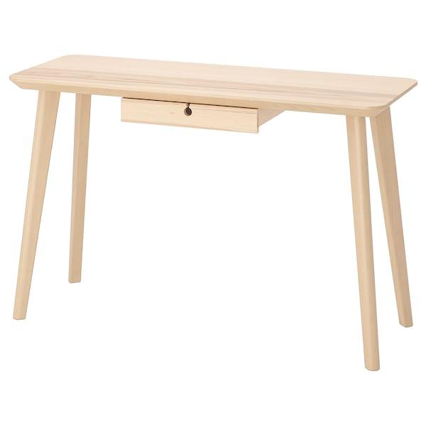 LISABO 利萨伯 书桌, 白蜡木贴面, 118x45 厘米