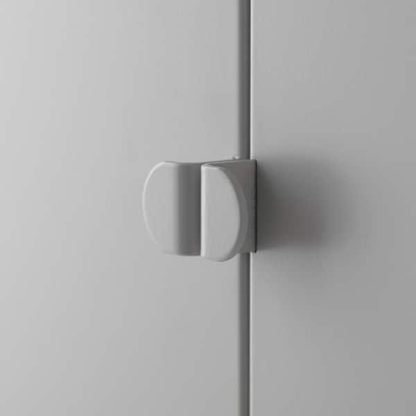 LIXHULT 利克胡 橱柜组合, 灰色/红色, 95x35x92 厘米