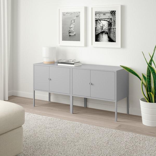 LIXHULT 利克胡 橱柜组合, 灰色, 120x35x57 厘米