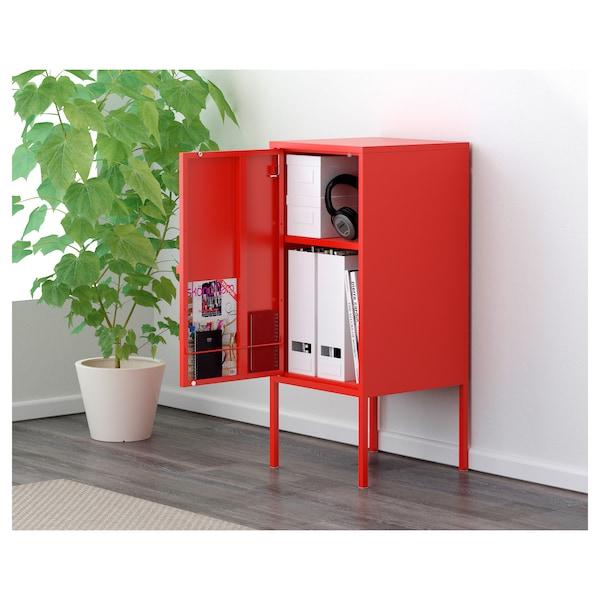 LIXHULT 利克胡 柜子, 金属/红色, 35x60 厘米