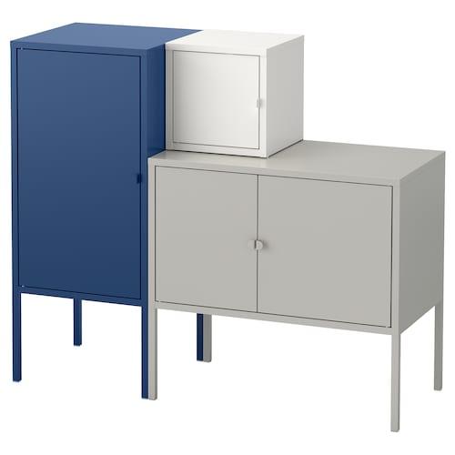 利克胡 储物组合 灰色/白色/深蓝色 60 厘米 82 厘米 95 厘米 35 厘米 82 厘米 21 厘米 12 公斤