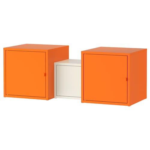 利克胡 储物组合 橙色/白色 95 厘米 35 厘米 35 厘米