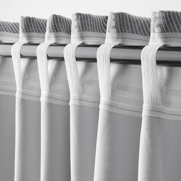楼普尔特 窗帘,一对 条纹/灰色 250 厘米 145 厘米 3.50 平方米 2 件
