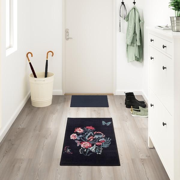 洛温斯 短绒地毯 黑色/多色 90 厘米 60 厘米 6 毫米 0.54 平方米 1060 克/平方米 390 克/平方米 4 毫米