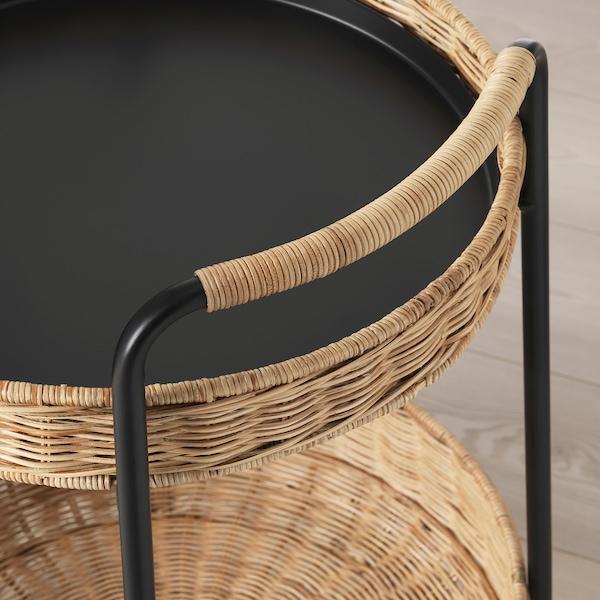 鲁巴恩 台桌带储物 藤条/煤黑色 10 公斤 5 公斤 50 厘米 50 厘米 66 厘米