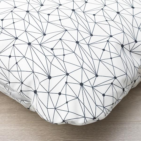 LURVIG 乐维格 宠物睡垫, 白色/黑色, 62x100 厘米