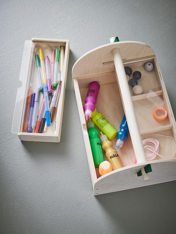 LUSTIGT 卢斯蒂格 美术手工用品收纳盒, 木头