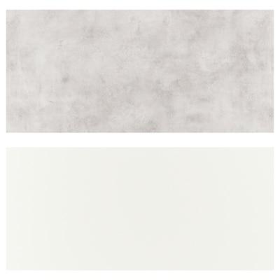 LYSEKIL 莱西克 挡水板, 双面设计 白色/淡灰色 仿混凝土效果, 119.6x55 厘米