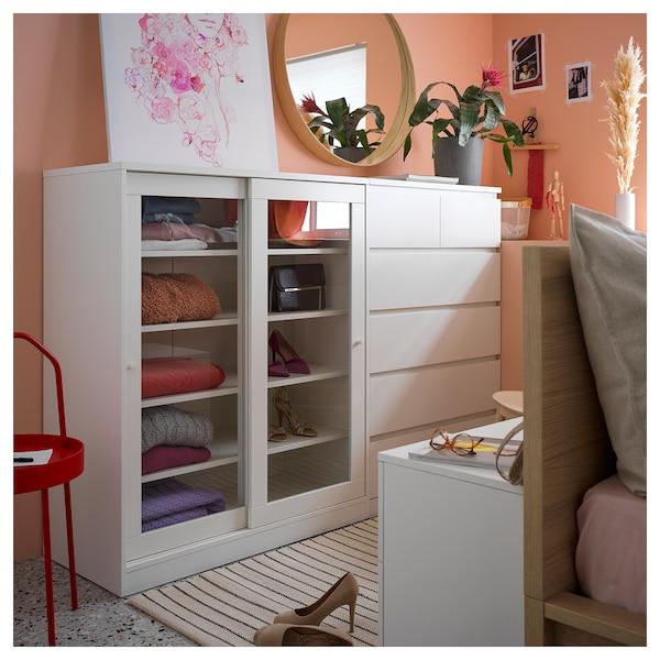 马尔姆 6屉柜, 白色, 80x123 厘米