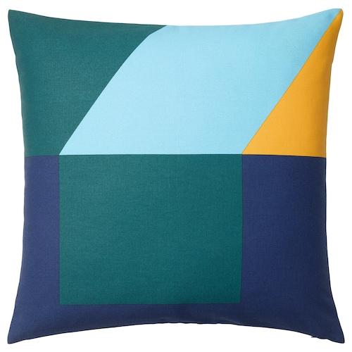玛雅丽萨 垫套, 蓝色/绿色/黄色, 50x50 厘米