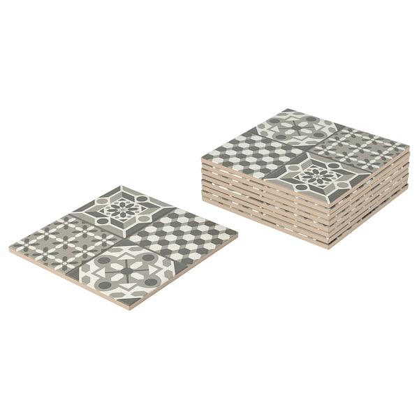 MÄLLSTEN 梅斯田 表面部件,户外地板饰面, 灰色/白色, 0.81 平方米