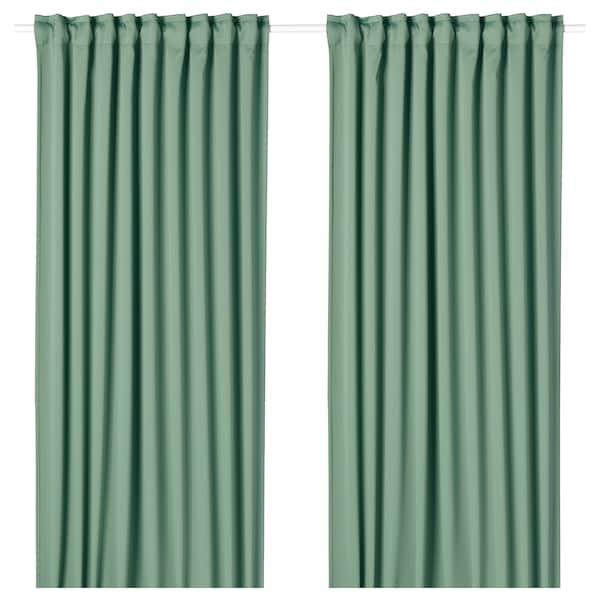梅格尔 遮光窗帘,两幅 绿色 250 厘米 145 厘米 2.00 公斤 3.63 平方米 2 件