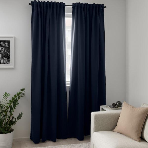 梅格尔 遮光窗帘,两幅 深蓝色 300 厘米 145 厘米 2.50 公斤 4.35 平方米 2 件