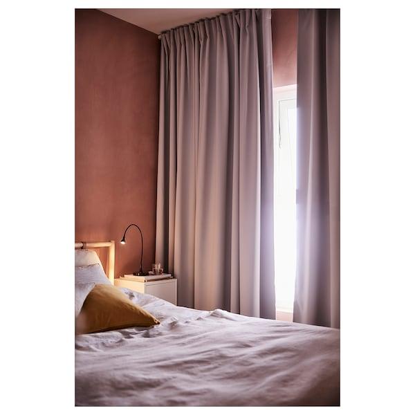梅格尔 窗帘,一对 淡灰色 250 厘米 145 厘米 2.00 公斤 3.63 平方米 2 件