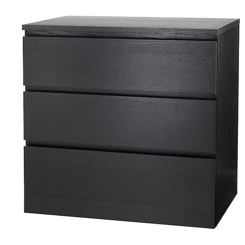 IKEA 马尔姆 三斗抽屉柜