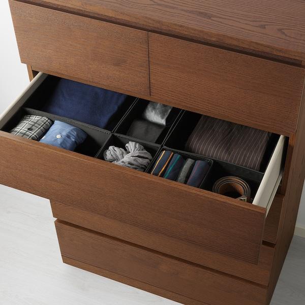 马尔姆 6屉柜 着褐色漆 白蜡木贴面 80 厘米 48 厘米 123 厘米 43 厘米