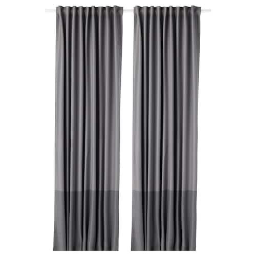 马瑞恩 遮光窗帘,两幅 灰色 250 厘米 145 厘米 2.77 公斤 3.63 平方米 2 件