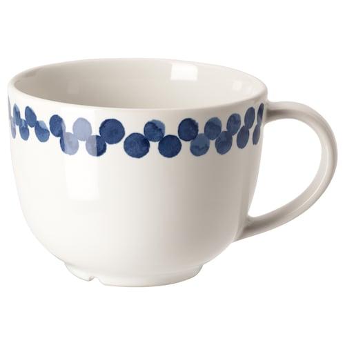 麦德伦 大杯 白色/蓝色/图案 8 厘米 42 厘升