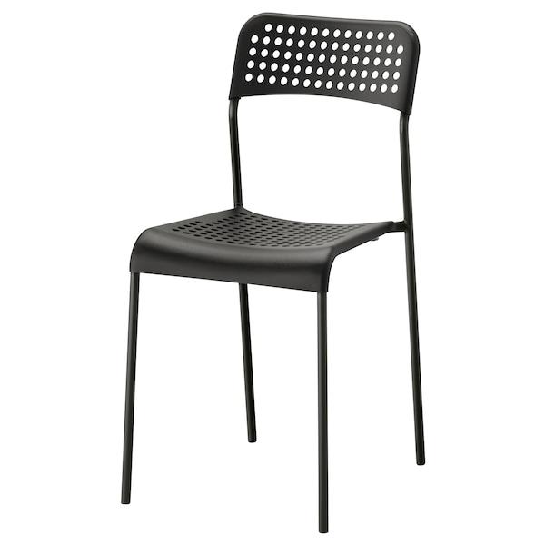 MELLTORP 麦托 / ADDE 阿德 一桌四椅, 白色/黑色, 125x75 厘米
