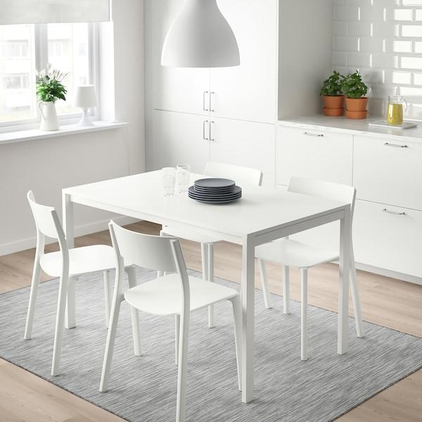 MELLTORP 麦托 / JANINGE 延宁 一桌四椅, 白色/白色, 125x75 厘米