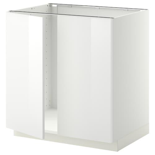 米多 洗涤槽底柜+2个门 白色/林胡特 白色 80.0 厘米 60 厘米 61.8 厘米 80.0 厘米