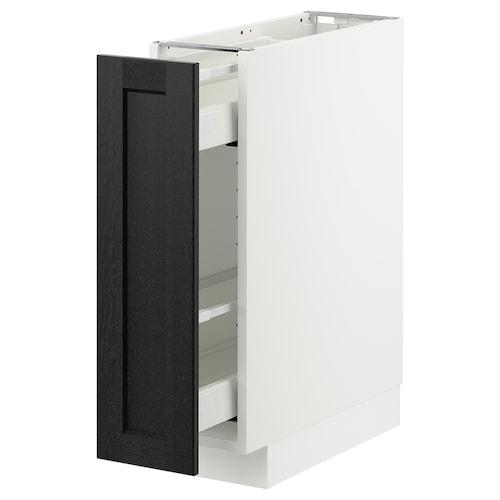 米多 底柜/拉出式内置件 白色/雷尔休坦 黑漆 20 厘米 60 厘米 61.8 厘米 70 厘米