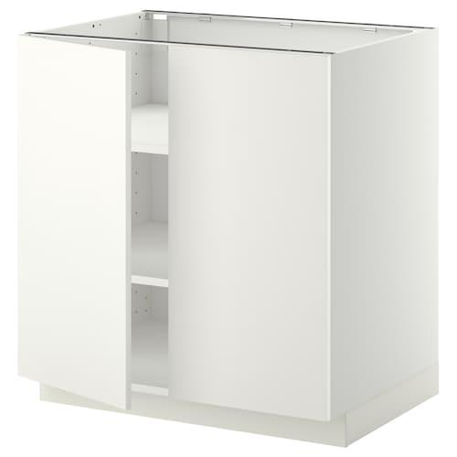 米多 底柜带搁板/2门 白色/哈格比 白色 80.0 厘米 60 厘米 61.6 厘米 80.0 厘米