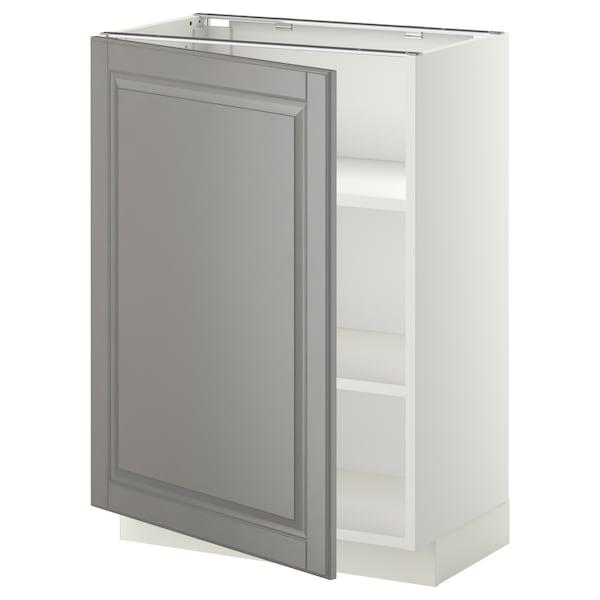 米多 底柜带搁板 白色/伯德比 灰色 60.0 厘米 37 厘米 38.9 厘米 80.0 厘米