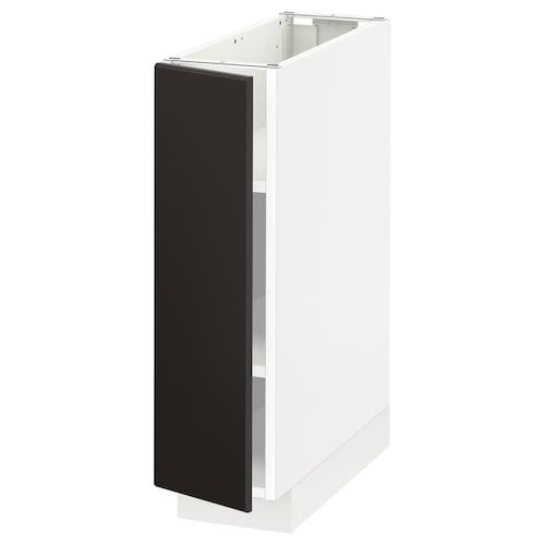 米多 底柜带搁板 白色/孔巴卡 煤黑色 20 厘米 60 厘米 61.8 厘米 70 厘米