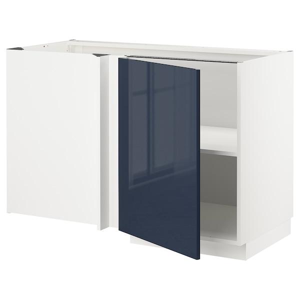 米多 转角底柜含搁板 白色/雅斯塔 蓝黑色 127.5 厘米 67.5 厘米 69.2 厘米 80.0 厘米