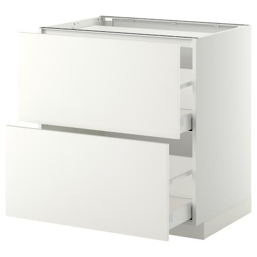 米多 / 马斯麦 灶用底柜/2前板/2屉 白色/哈格比 白色 80.0 厘米 61.6 厘米 60.0 厘米 80.0 厘米