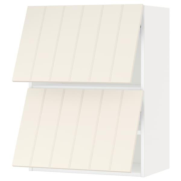 米多 水平推进式玻璃双门壁柜 白色/希塔普 灰白 60.0 厘米 37 厘米 38.8 厘米 80.0 厘米