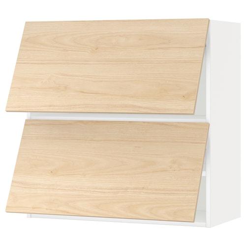 米多 水平双门壁柜 白色/阿斯克松 浅白蜡木纹 80.0 厘米 37 厘米 38.8 厘米 80.0 厘米