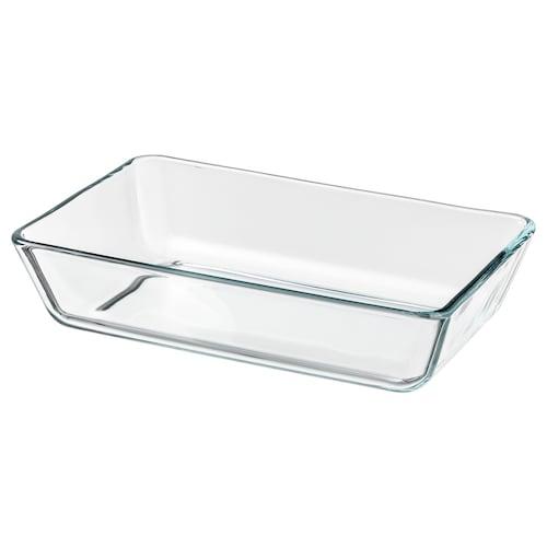米克特 烤箱盘, 透明玻璃, 27x18 厘米