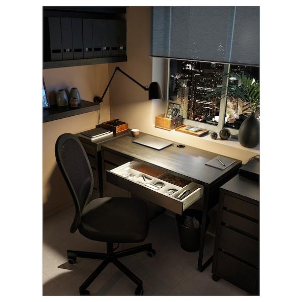 米克 书桌 黑褐色 105 厘米 50 厘米 75 厘米 50 公斤
