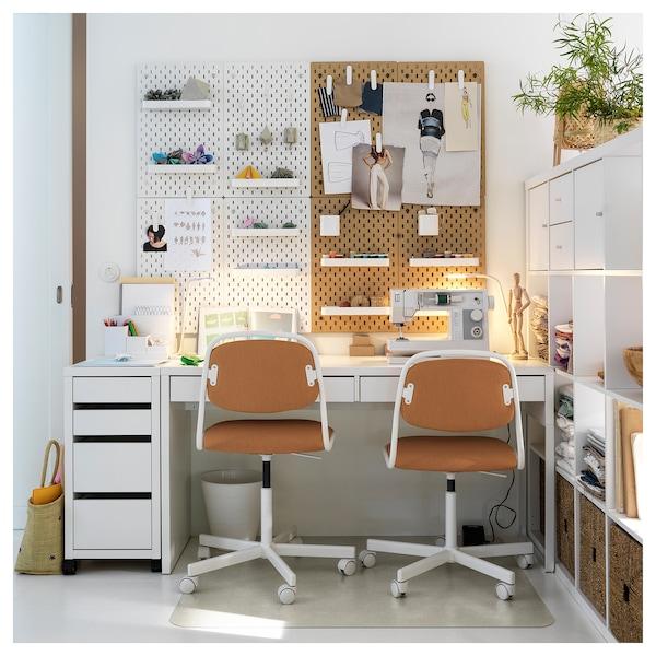 MICKE 米克 书桌, 白色, 142x50 厘米