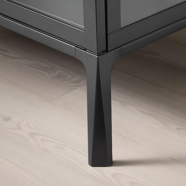米斯伯 玻璃门柜 煤黑色 73 厘米 42 厘米 175 厘米 5 公斤