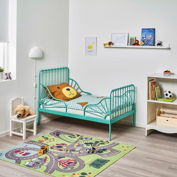 米隆 加长床框架带床板 天蓝色 135 厘米 206 厘米 85 厘米 72 厘米 92 厘米 23 厘米 100 公斤 200 厘米 80 厘米