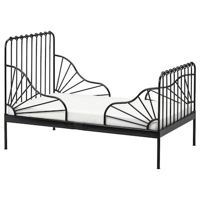 MINNEN 米隆 加长床框架带床板, 黑色, 80x200 厘米