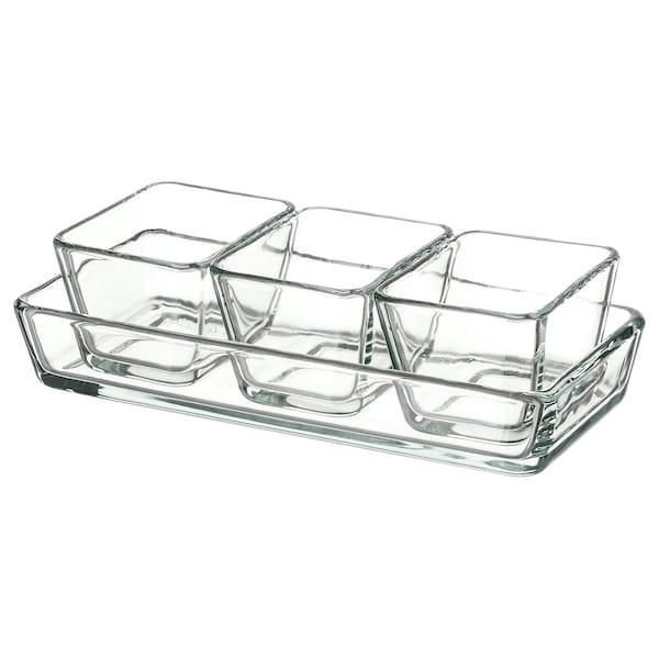米克特 烤盘/菜盘4件套 透明玻璃