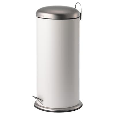 MJÖSA 米约萨 踏板式垃圾桶, 白色, 30 公升