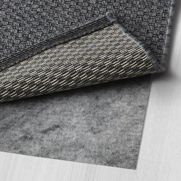 莫鲁 平织地毯,室内/户外, 深灰色, 160x230 厘米