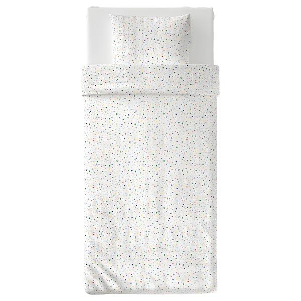 MÖJLIGHET 莫伊里黑特 被套和枕套, 白色/镶嵌图案, 150x200/50x80 厘米
