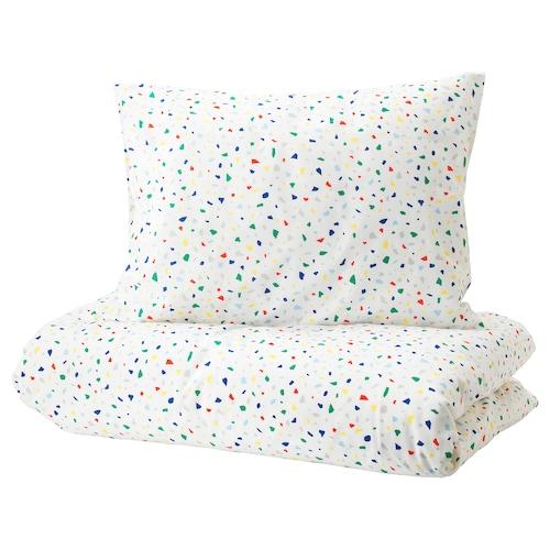 莫伊里黑特 被套和枕套 白色/镶嵌图案 200 厘米 150 厘米 50 厘米 80 厘米
