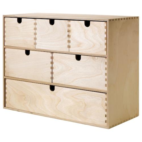 莫培 小型抽屉柜 桦木胶合板 42 厘米 18 厘米 32 厘米