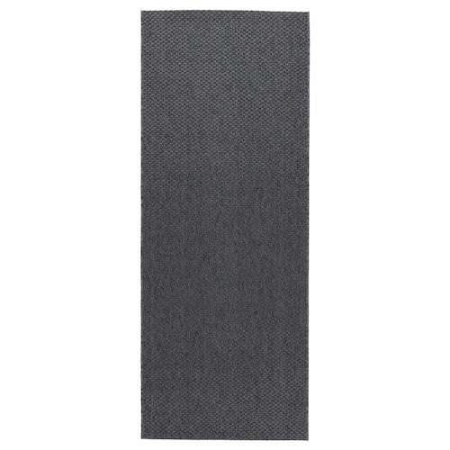 莫鲁 平织地毯,室内/户外 深灰色 200 厘米 80 厘米 5 毫米 1.60 平方米 1385 克/平方米